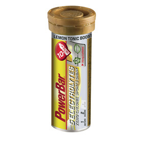 PowerBar 5 Electrolytes - Nutrition sport - Lemon Tonic Boost avec caféine 10 tablettes Or/argent